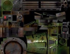 加特林加强版机枪 模型